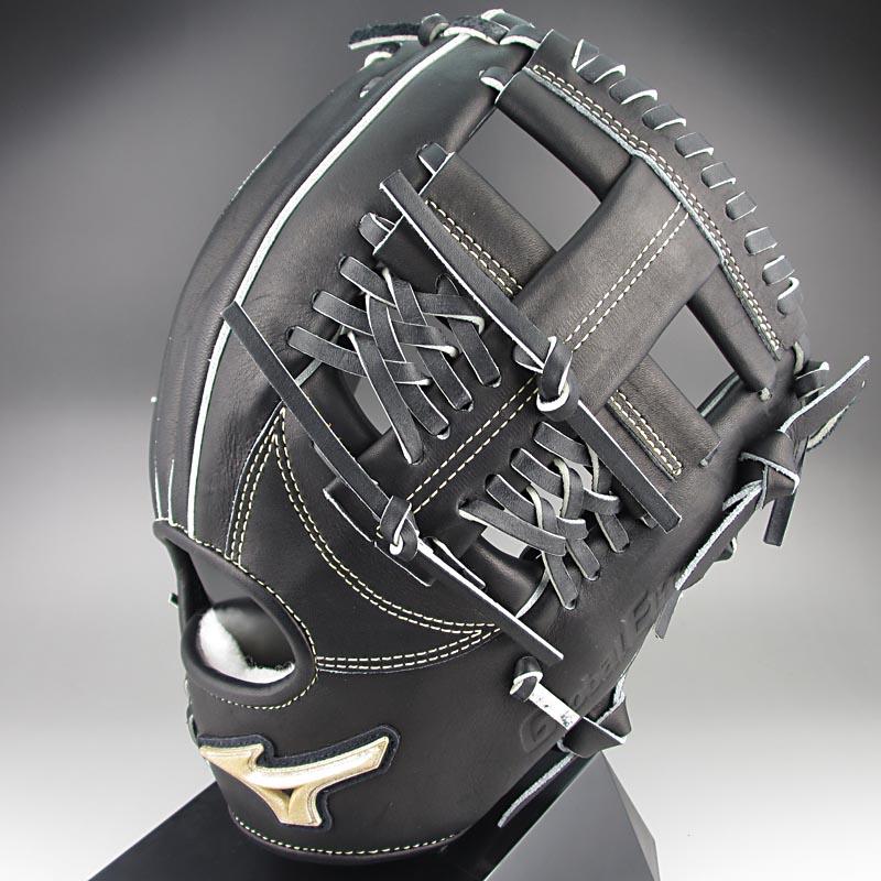 【送料無料】ミズノ グローバルエリートFCライン 一般硬式内野手用H1 1AJGH12203 09:ブラック 右投げ