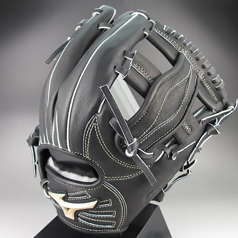 【送料無料】ミズノ グローバルエリートQMライン 一般硬式内野手用H2 1AJGH12323 09:ブラック 右投げ