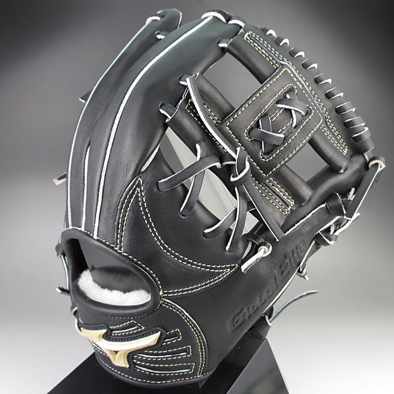 【送料無料】ミズノ グローバルエリートQMライン 一般硬式内野手用E2 1AJGH12353 09:ブラック 右投げ