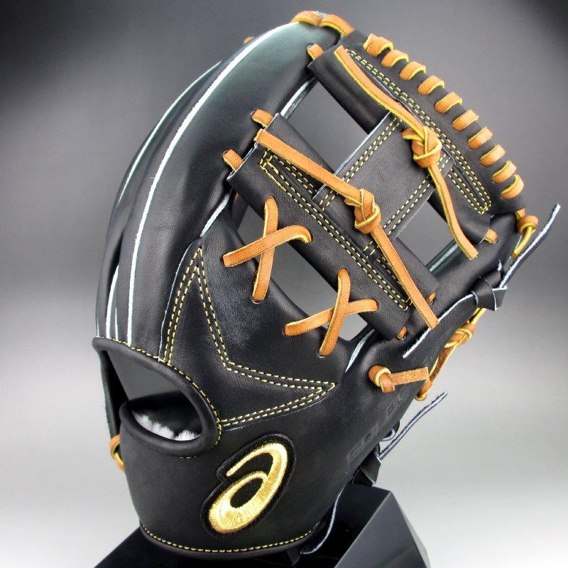 【送料無料】 2018年モデル アシックス ASICS 一般硬式内野手用右投げ ゴールドステージ BGH8CH(9027)ブラックxライトブラウン