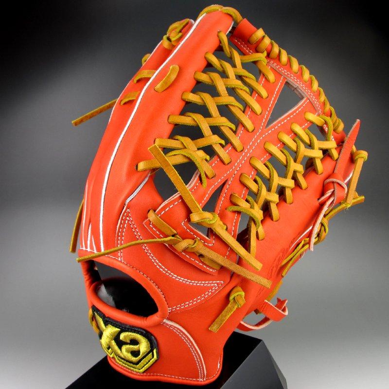 【送料無料】 ザナックス XANAX 一般硬式外野手用右投げ トラスト シリーズ BHG-72815(DR2027)DRオレンジxタン