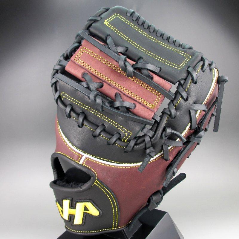 2019年モデル ハタケヤマ 軟式ファーストミット 一塁手用 右投げ TH-YS42F(ブラックxTブラウン)