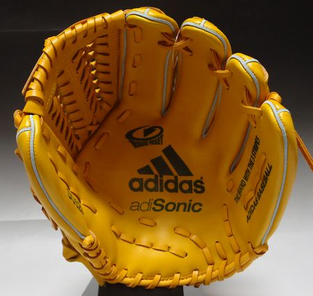 供50%OFF adidas阿迪聲速軟式手套全能使用的DO529 Z04332:功率黄色S12/金屬黄金右側投球(NS)