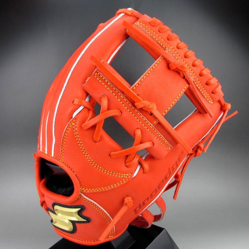 2019年モデル エスエスケイ 硬式グラブ 内野手用 右投げ プロエッジ PEK64119(33)レディッシュオレンジ