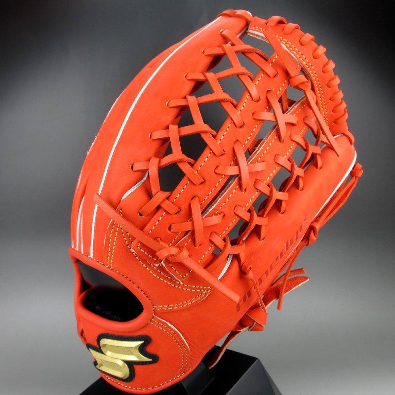 2019年モデル エスエスケイ 軟式グラブ 外野手用 右投げ プロエッジ PEN87419(33)レディッシュオレンジ