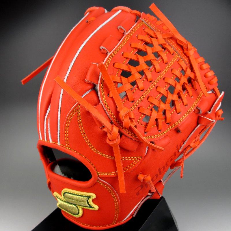 【送料無料】エスエスケイ SSK 一般硬式二塁 遊撃手用 右投げ プロブレイン PLX-54(33)レディッシュオレンジ