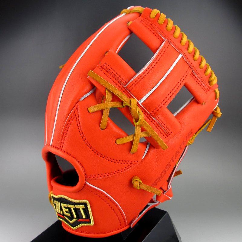 【送料無料】 2018年モデル ゼット ZETT 一般硬式内野手用右投げ プロステイタス BPROG64(5836)ディープオレンジxオークブラウン