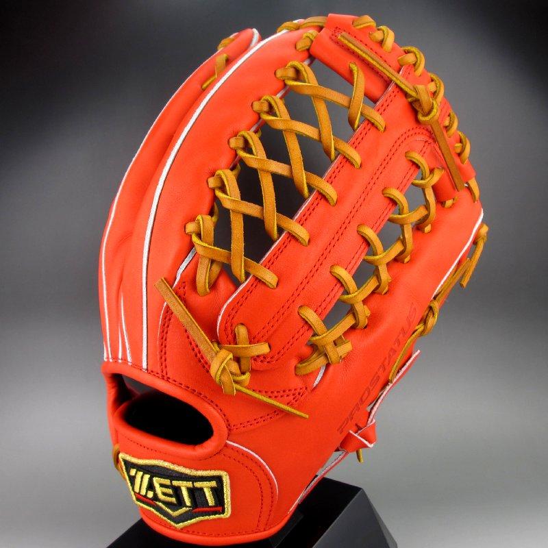 【送料無料】 2018年モデル ゼット ZETT 一般硬式外野手用右投げ プロステイタス BPROG87(5836)DオレンジxOブラウン