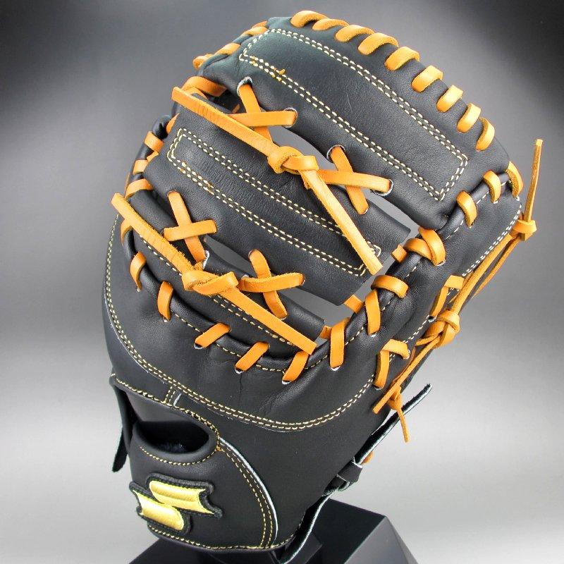 2019年モデル エスエスケイ 少年軟式ミット 一塁手用 スーパーソフト 右投げ SSJF193(9047)ブラックxタン