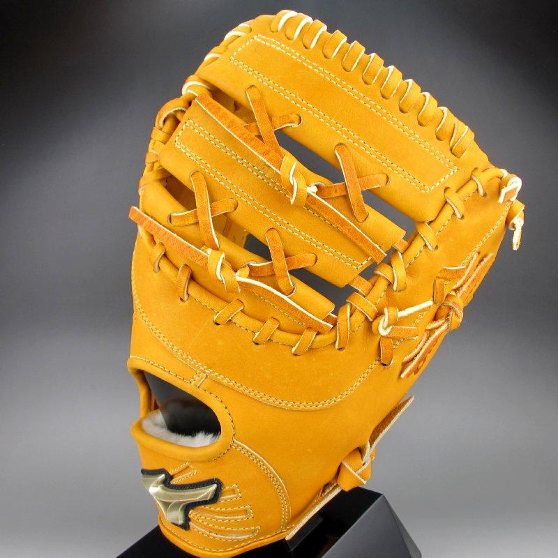 2018年モデル ミズノ Mizuno 一般軟式一塁手用右投げ グローバルエリート Hセレクション 02 1AJFR18300(54)オレンジ