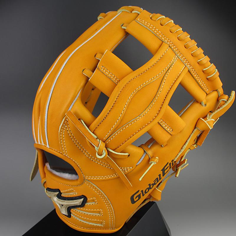 【送料無料】ミズノ グローバルエリートQMライン 一般硬式内野手用H2 1AJGH12323 54:オレンジ 右投げ