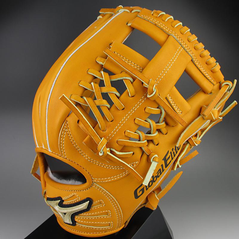 【送料無料】 2015年モデル ミズノ グローバルエリートQMライン 一般硬式内野手用H2 1AJGH12333 54:オレンジ 右投げ