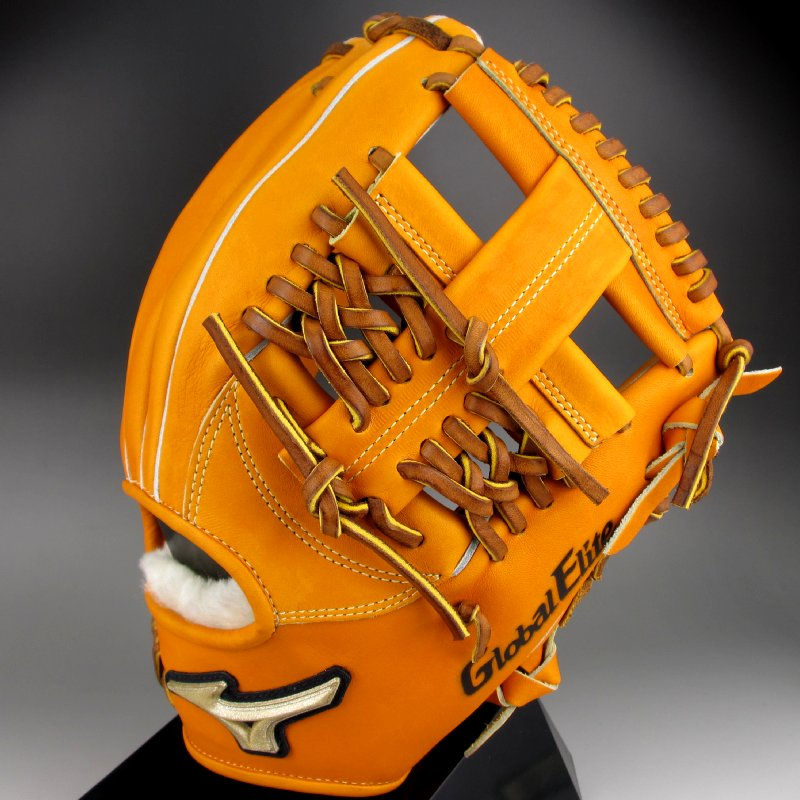 【送料無料】 ミズノ MIZUNO 一般硬式内野手用H1右投げ グローバルエリート FCライン 1AJGH13403(54)オレンジ