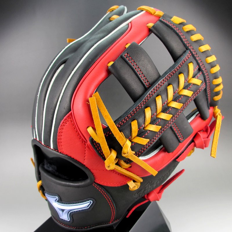 2018年モデル ミズノ Mizuno ソフトボール 内野手用右投げ 1AJGS19413(0962)ブラック レッド