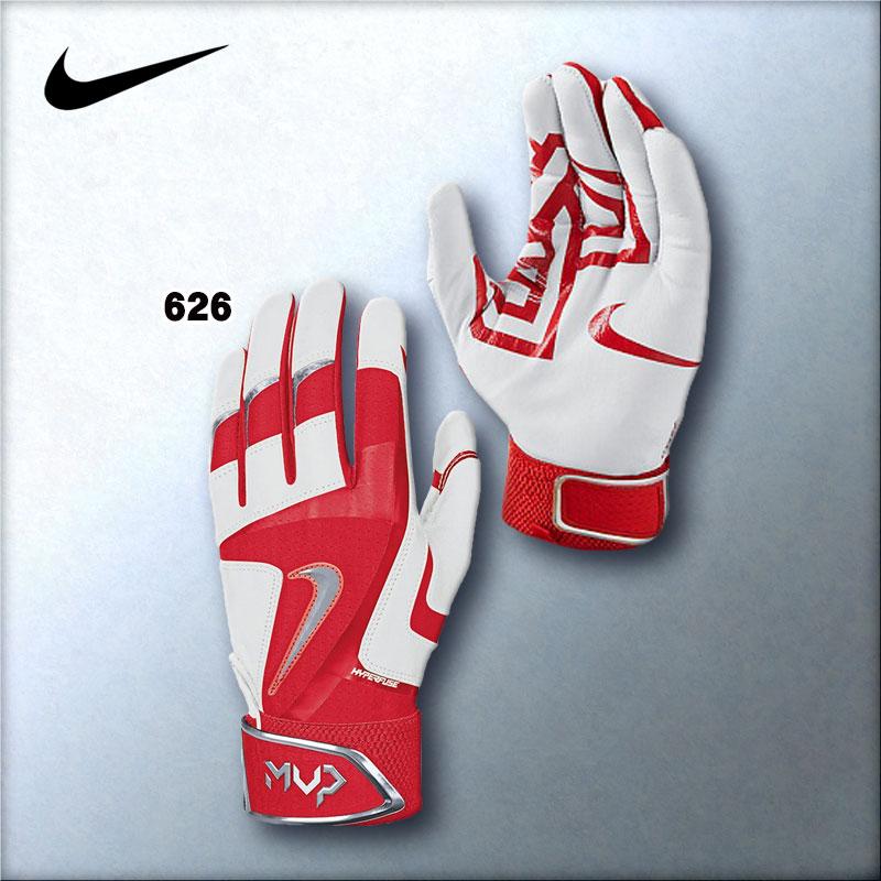 Nike Mvp Elite Pro Batting Gloves Red - Image Of Gloves a8612d620bf36