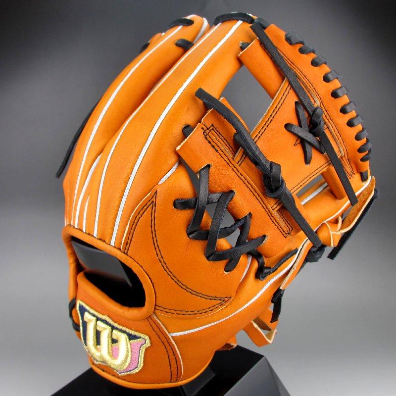 2018年モデル ウィルソン スタッフ デュアル 一般硬式内野手用右投げ WTAHWED6H(83)オレンジタン