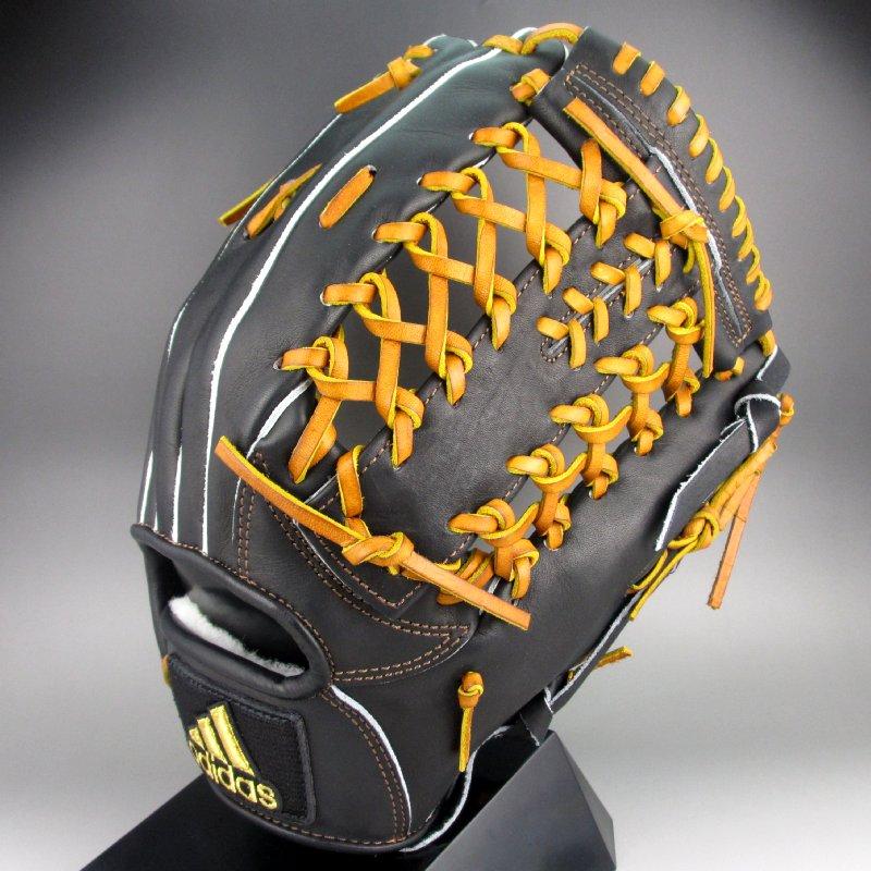 アディダス Adidas 一般硬式外野手用右投げ adidas bb DMT62-BS1095(black/craoch)