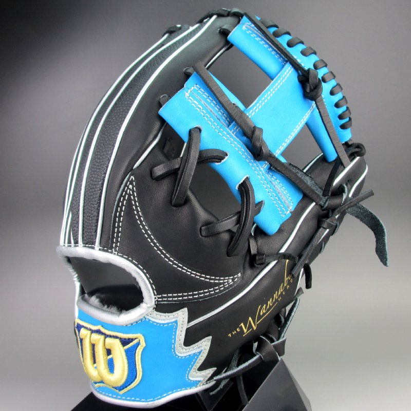 ウィルソン 軟式グラブ 内野手用 右投げ デュアル ワナビーヒーロー WTARHSD5H(94GBS)ブラックxTブルーxグレーSSxブラックSS