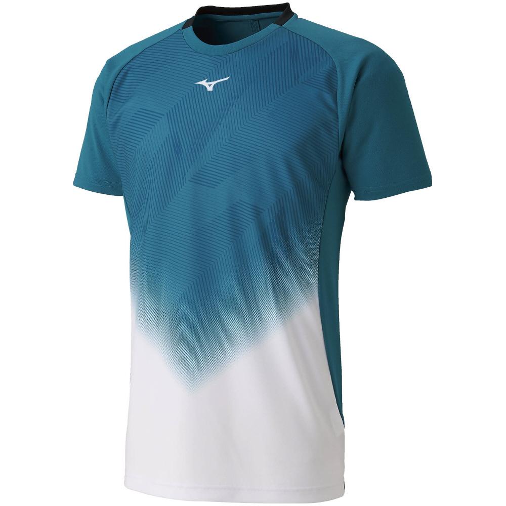 ミズノ MIZUNO ゲームシャツ 62JA950873 ホワイト×ブルーグラス SlimFit ダイナモーションフィット