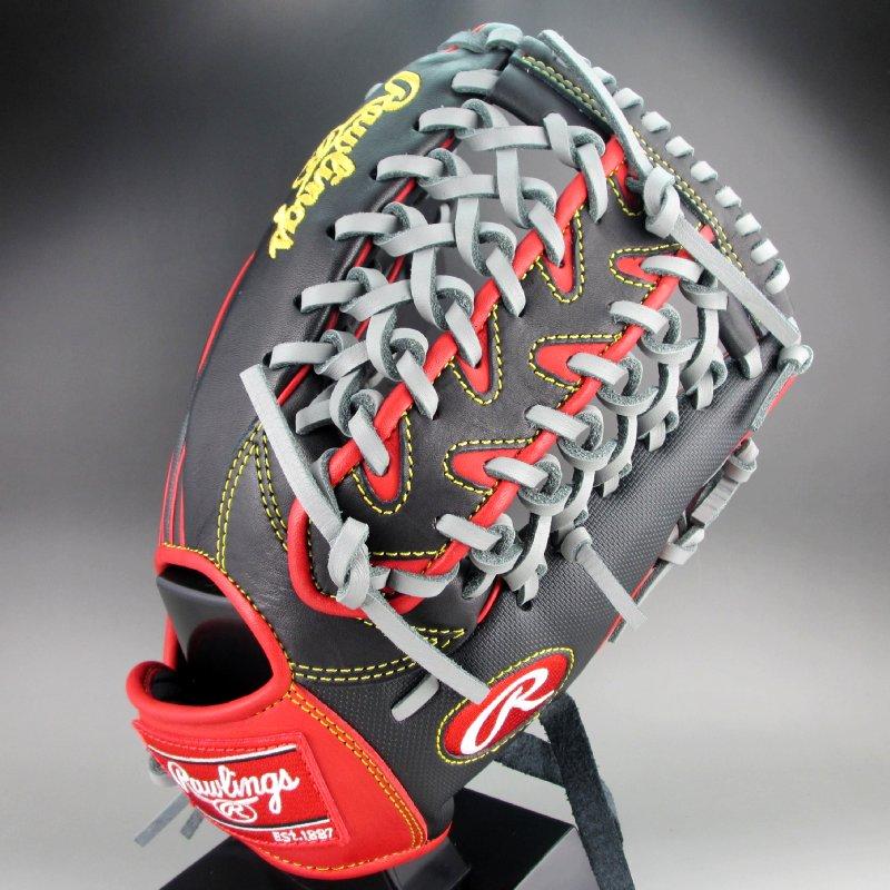ローリングス 女子 ソフトボール オールラウンド用 HOH DP 右投げ GS9FHDS65(BRD)ブラックxレッド