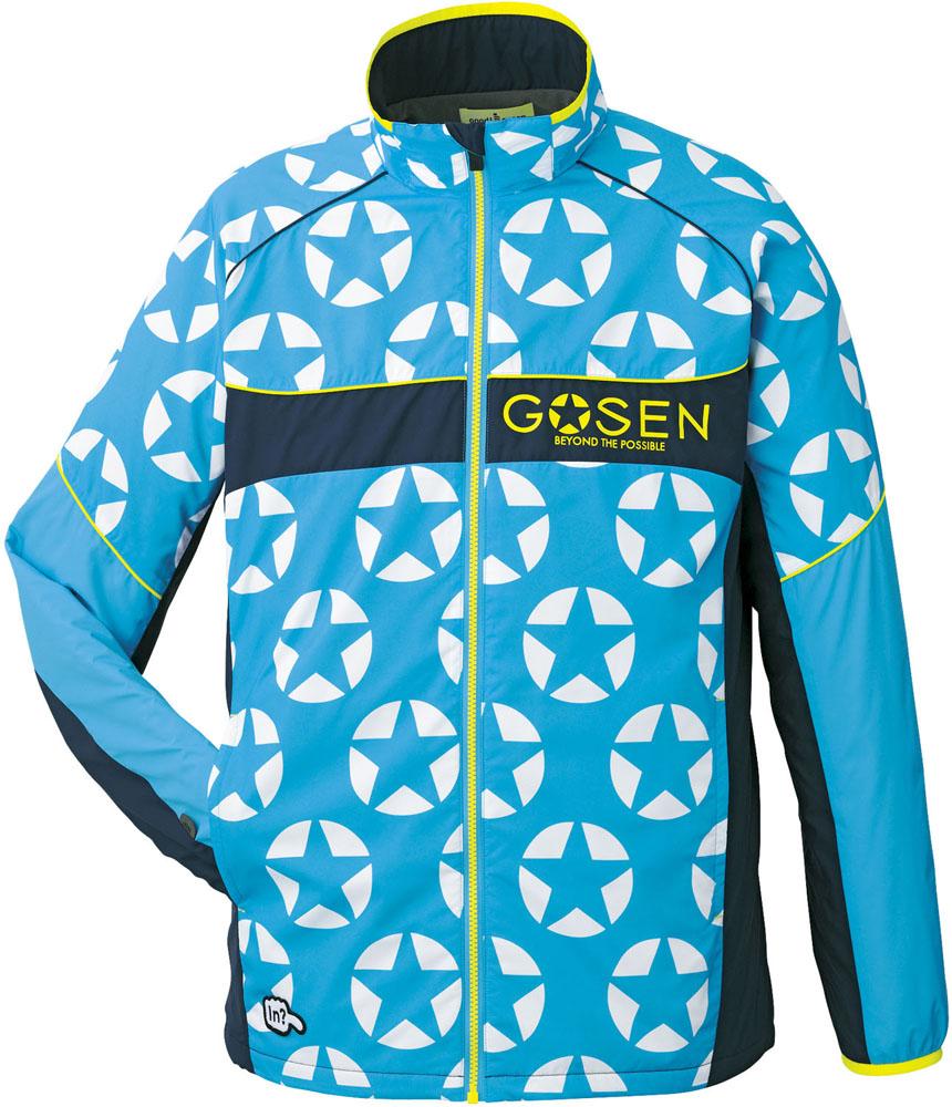 GOSEN(ゴーセン) 【男女兼用 テニスウェア】 ウィンドウォーマージャケット(裏起毛) ターコイズブルー