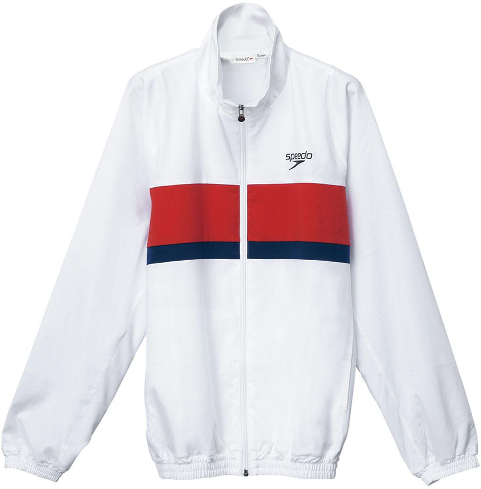 Speedo(スピード) カラーブロックウインドジャケット ホワイト