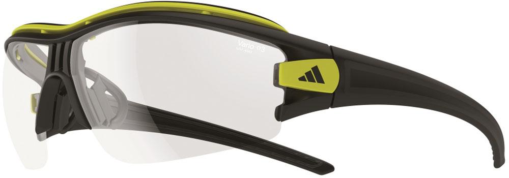 adidas(アディダス) サイクル サングラス 調光レンズ evil eye halfrim pro Lサイズ マットブラックグロウ×クリアーグレイ