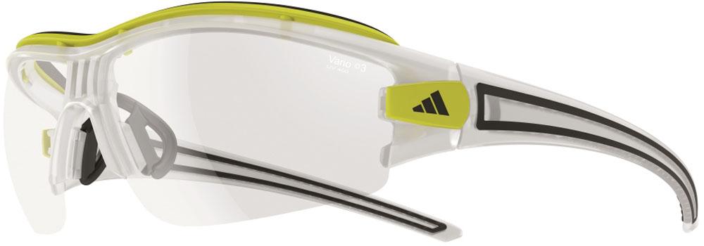 adidas(アディダス) サイクル サングラス 調光レンズ evil eye halfrim pro Lサイズ マットクリスタル×クリアーグレイ
