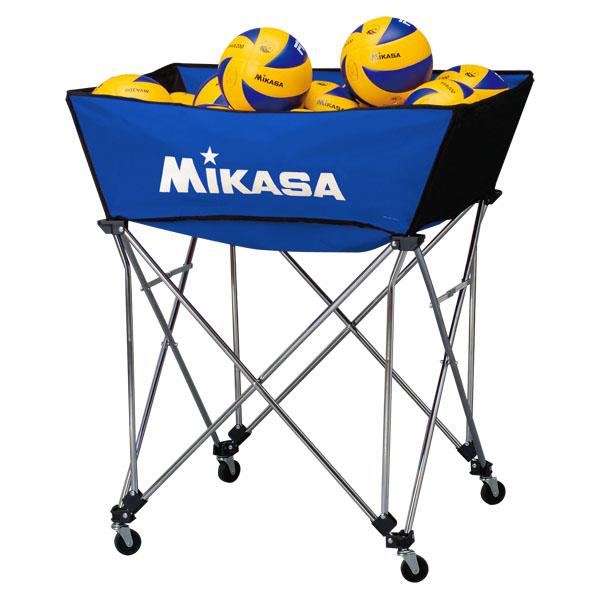 ミカサ(MIKASA) 舟形ボールカゴ3点セット(フレーム・幕体・キャリーケース) ブルー