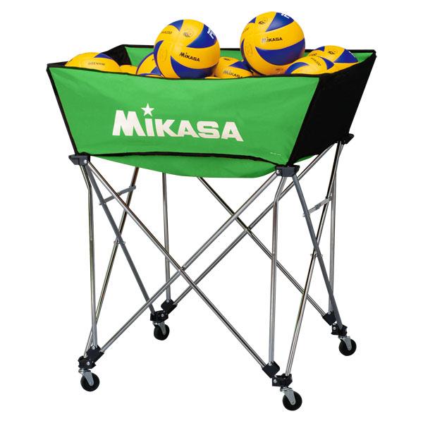 ミカサ(MIKASA) 舟形ボールカゴ3点セット(フレーム・幕体・キャリーケース) ライトグリーン