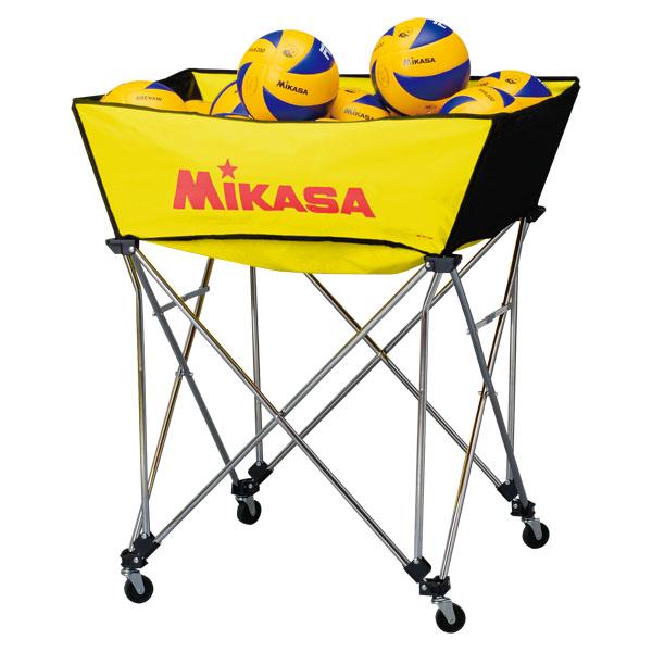ミカサ(MIKASA) 舟形ボールカゴ3点セット(フレーム・幕体・キャリーケース) イエロー