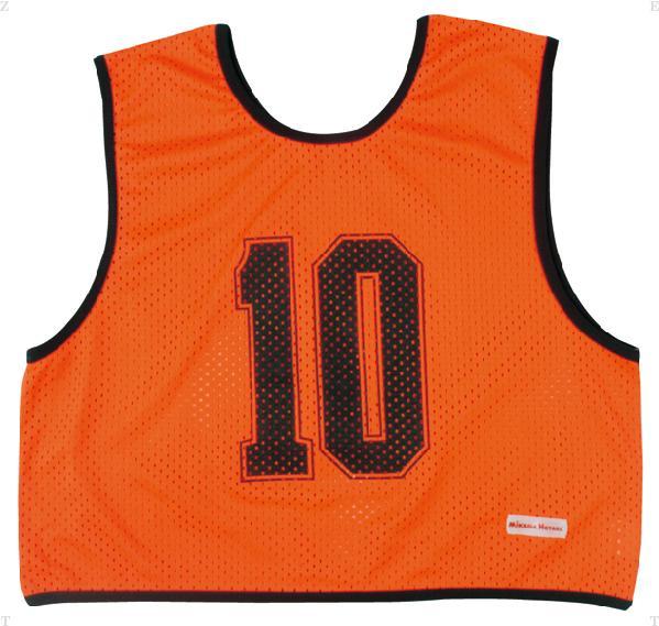 ミカサ(MIKASA) ゲームジャケットハーフタイプ10枚セット 蛍光オレンジ