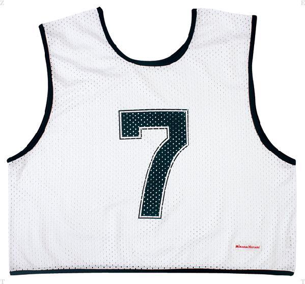 ミカサ(MIKASA) ゲームジャケットハーフタイプ10枚セット ホワイト
