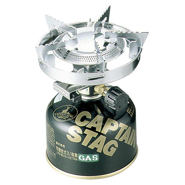 CAPTAIN STAG(キャプテンスタッグ) 小型ガスバーナーコンロ<圧電点火装置付>(ケース付)M-7901E 【M-7901】