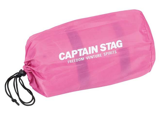 CAPTAIN STAG(キャプテンスタッグ) ピロー付インフレーティングマット(ピンク)