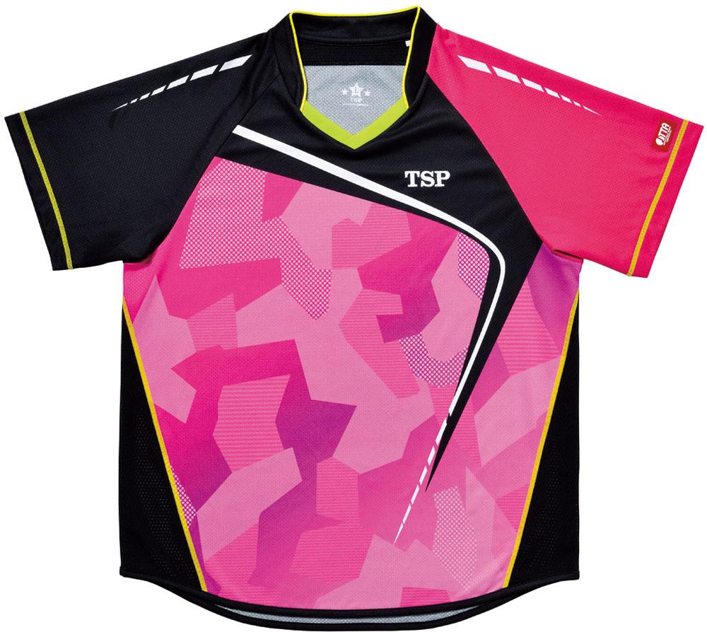 TSP 【男女兼用 卓球用ウェア】 フォルツァシャツ Viscotecs ピンク