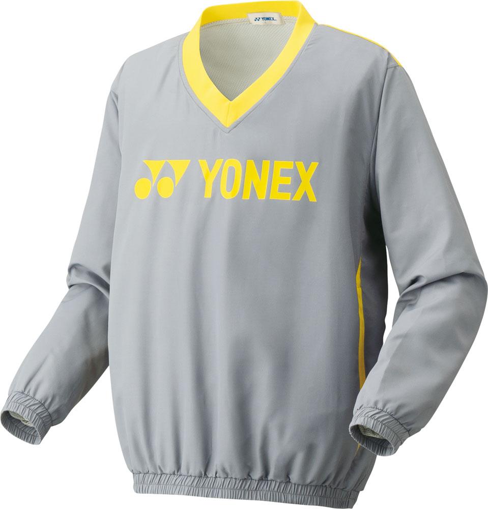 9030618373f50 Yonex(ヨネックス) 【男女兼用 テニスウェア】 UNI 裏地付Vブレーカー グレー