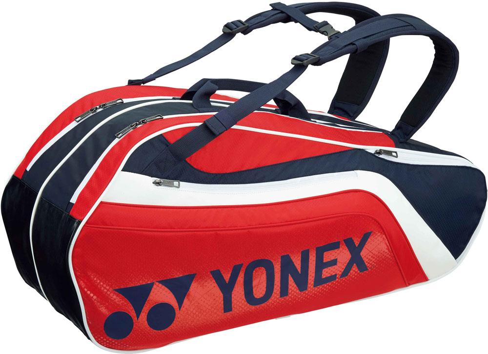 Yonex(ヨネックス) (テニス用ラケットバッグ) TOURNAMENT SERIES ラケットバック6 リュック付き(ラケット6本用) ネイビー/レッド