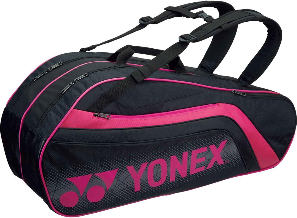 Yonex(ヨネックス) (テニス用ラケットバッグ) TOURNAMENT SERIES ラケットバック6 リュック付き(ラケット6本用) ブラック/ピンク