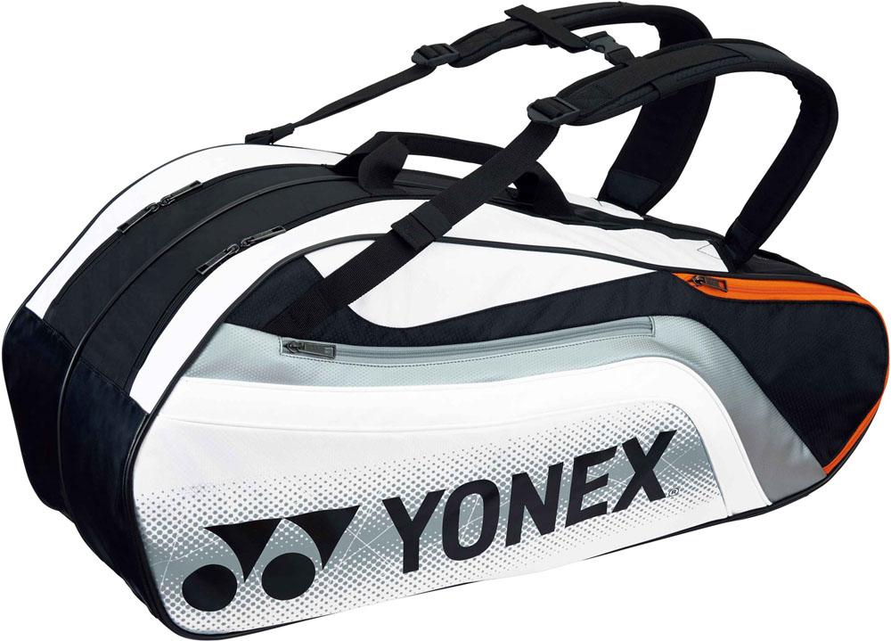 Yonex(ヨネックス) (テニス用ラケットバッグ) TOURNAMENT SERIES ラケットバック6 リュック付き(ラケット6本用) ブラック/ホワイト