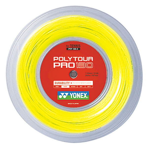 Yonex(ヨネックス) ポリツアープロ130(240m) フラッシュイエロー
