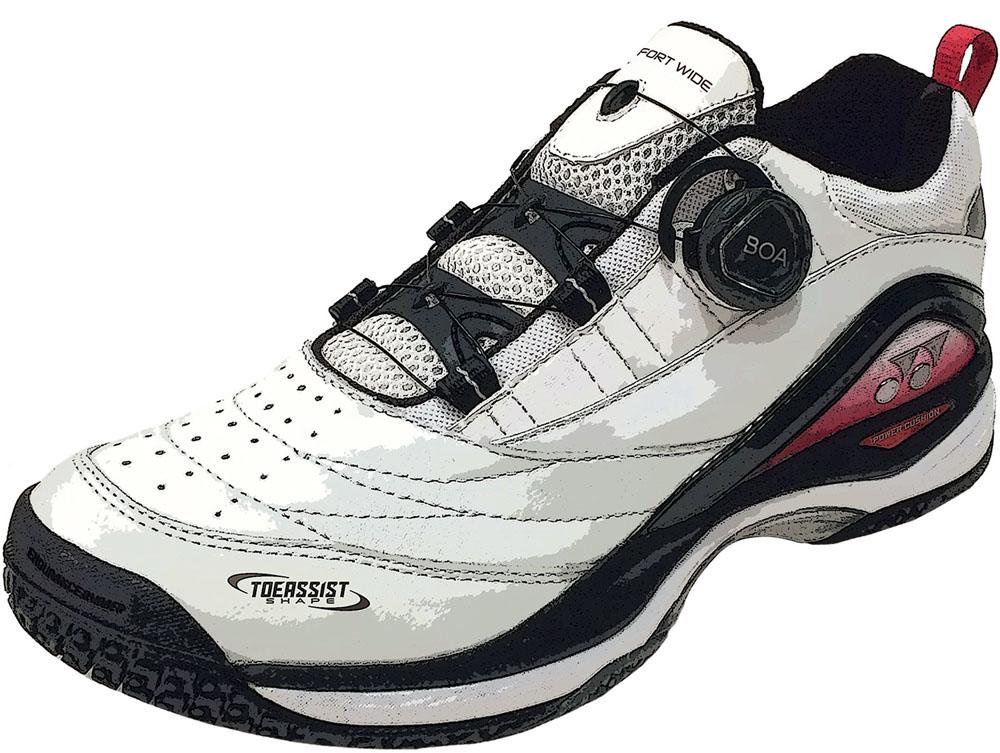 Yonex(ヨネックス) 男女兼用 クレー/砂入り人工芝コート用テニスシューズ パワークッションコンフォート W D2 GC ホワイト×レッド ホワイト/レッド