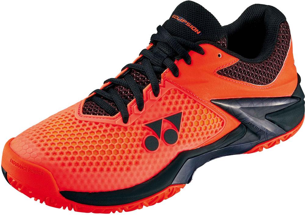 Yonex(ヨネックス) (男女兼用 オールコート用テニスシューズ) パワークッションエクリプション2 M AC オレンジ/ブラック
