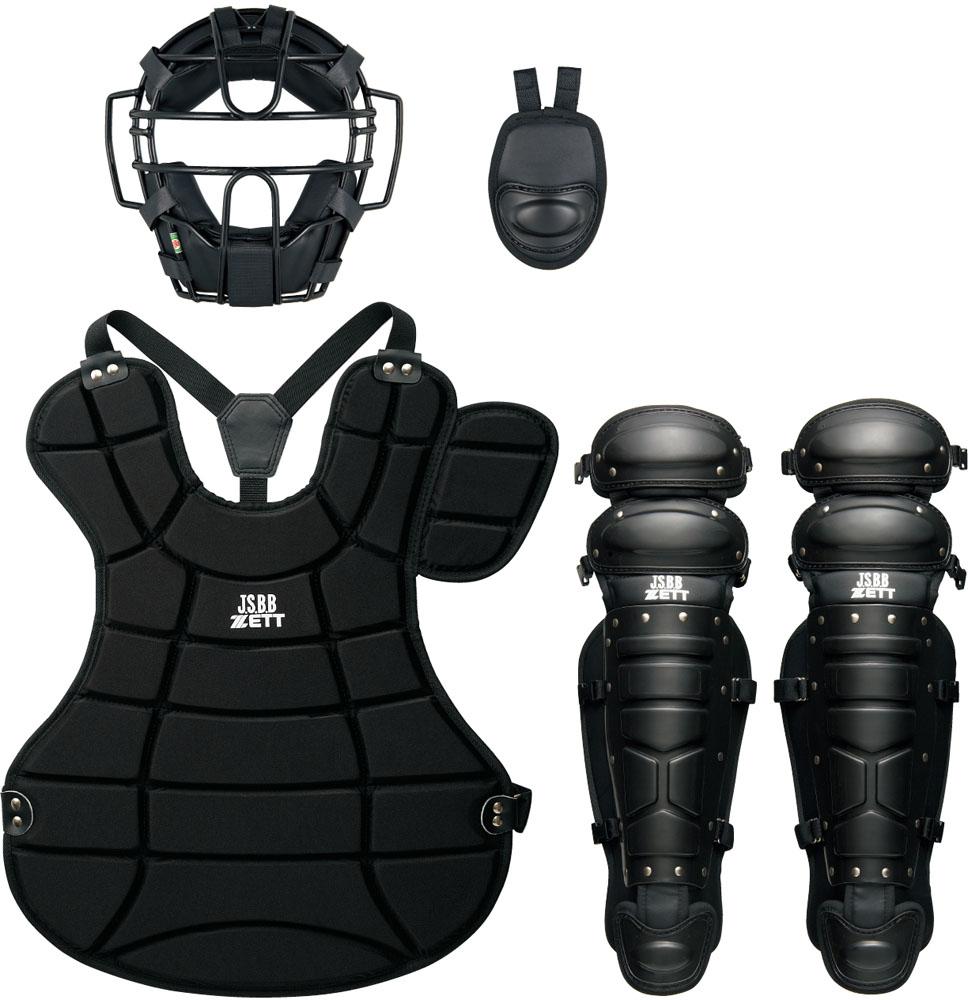 ZETT(ゼット) 大人・中学軟式野球用 防具4点セット(SG基準対応) ブラック