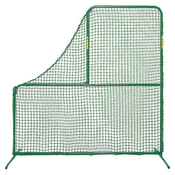 ZETT(ゼット) 投手用L型防球ネット(脚部回転式)脚部鉄製