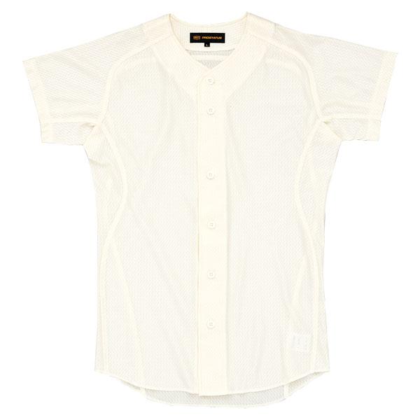 ZETT(ゼット) プロステイタス ユニフォームシャツ(フロントオープンスタイル) アイボリー