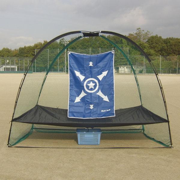 ゼット体育器具 【軟式野球・ソフトボール用】 ティーバッティング・投球練習ネット