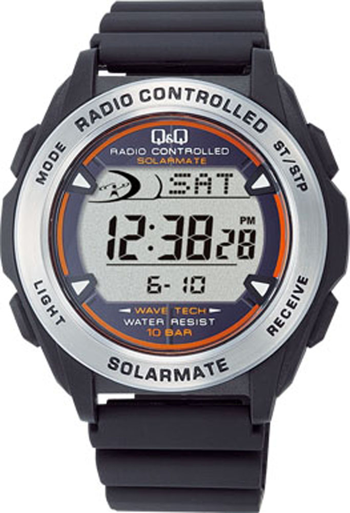Q&Q(キューアンドキュー) ソーラー電源デジタル電波時計