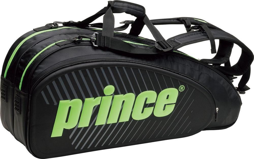 Prince(プリンス) 【男女兼用 テニス用ラケットバッグ】 ラケットバッグ6本入 BLK/GRN