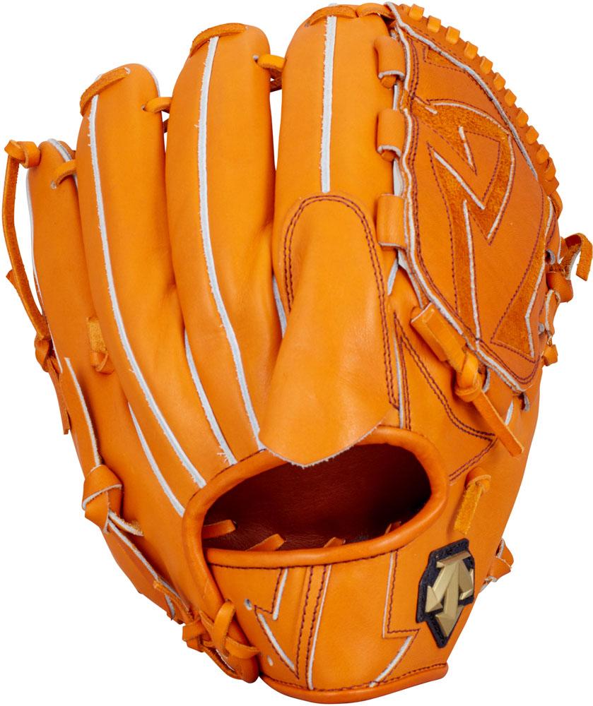 デサント(DESCENTE) 硬式野球用グラブ 投手用 オレンジ